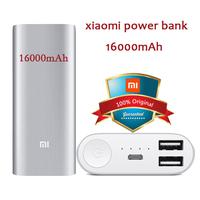 100% Original Xiaomi Power Bank 16000mAh With Dual USB Output For Xiaomi Mi Pad Mi4 M2 M2A M2S M3 Red Rice Cell Phones