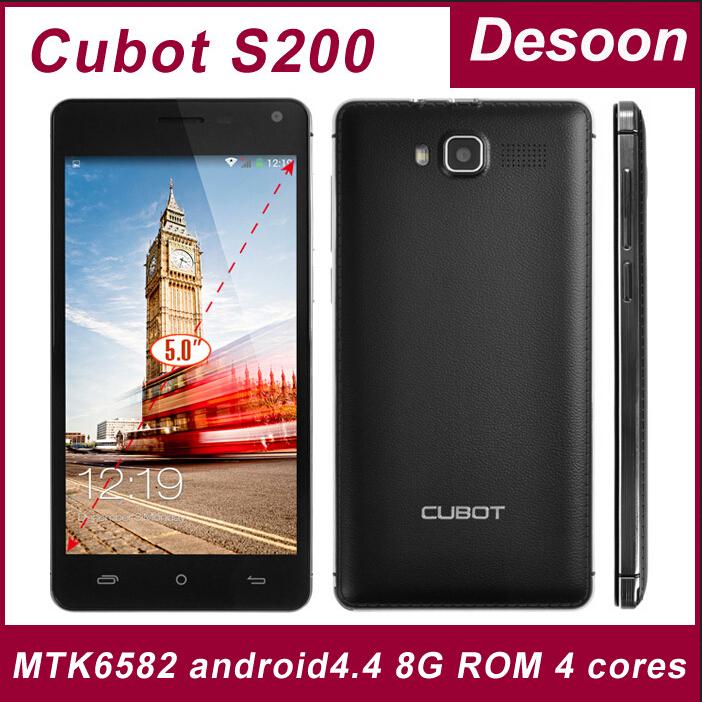 8g card gift)Original Cubot S200 Quad core MTK6582 cell phones android 4.4 phone 5.0' IPS 1280*720 1G+8G 3300mah OTG Google Play(China (Mainland))