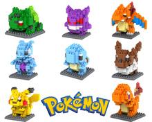 Pokemon Figures Model Toys Pikachu Charmander Squirtle Mewtwochild Child Christmas gift 9+ brinquedos Diamond Building Blocks(China (Mainland))