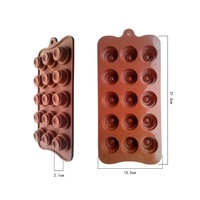 Factory Outlet 15 even the round tower oven silicone chocolate mold DIY hand-made silicone mold exclusive
