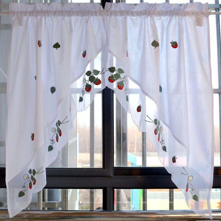 Online get cheap strawberry kitchen curtains aliexpress - Que cortinas poner en la cocina ...