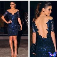 2014 Runway Dress Women's High Quality Dresses Vestido De Renda Blue Crochet Lace Bodycon Dresses Plus Size Hot Sale