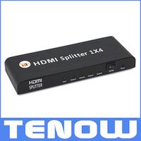 HDMI Splitter 1x4 3D 1 Input 4 Output 4 Ports HDMI Splitter Support 3D 1080P HDMI Distribution Amplifier Splitter