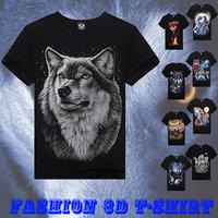 3d T-shirt 2014 Brand New Fashion Design Men's Casual Slim Male 3D Animal Printed Summer Camisetas Masculinas  Z1202