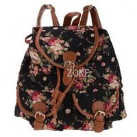 2014 Floral Print women backpack 4 Colors fashion backpacks school bags travel canvas sport bag shoulder Bags b9 SV012186