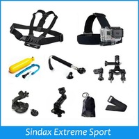 For Gopro sj4000 Accessories Chest Head Strap+Floating Bobber+Monopod+Handlebar Seatpost+Suction Cup For GoPro Hero 1 2 3 3+ 4