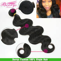 """5A Brazilian Virgin Hair Body Wave 3Pieces/Lot (10""""-24"""")Soft And Thick cheap price Human Hair Extensoins Hair Berrys Perruque"""