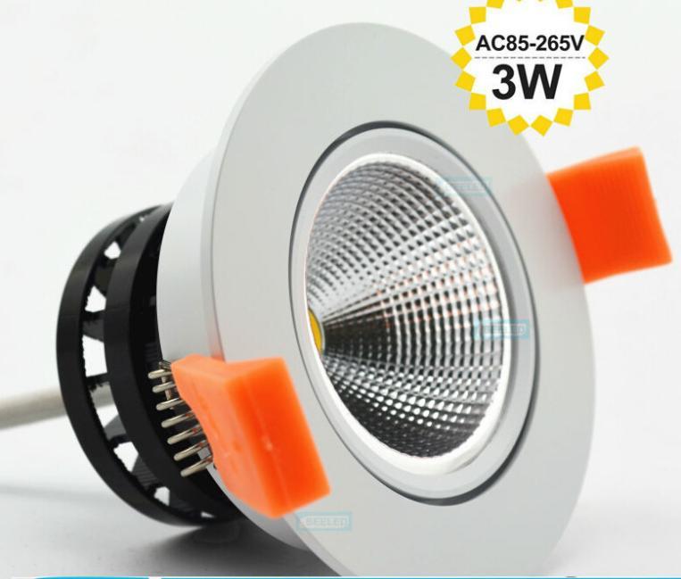 Plus récent 1pc 2014 3w 5w 7w led cob puce downlight encastré led plafonnier spot lampe blanche/epistar. lampe led blanc chaud