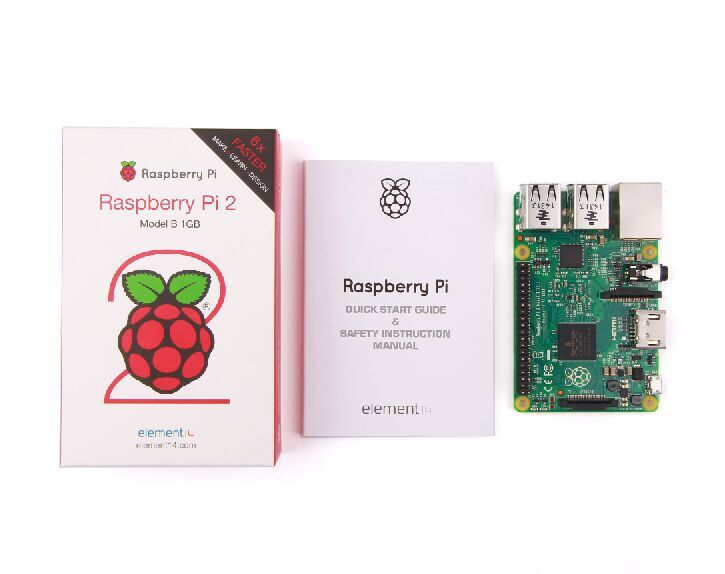 In stock 2015 New Original Raspberry Pi 2 Model B 1GB RAM 900Mhz Quad Core ARM Cortex A7 Element 14 6 times faster than model B+(China (Mainland))