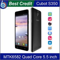 Original Cubot S350 MTK6582 Quad Core 2GB RAM 16GB ROM Android 4.4 5.5 Inch IPS Screen 13MP cell phones/Eva