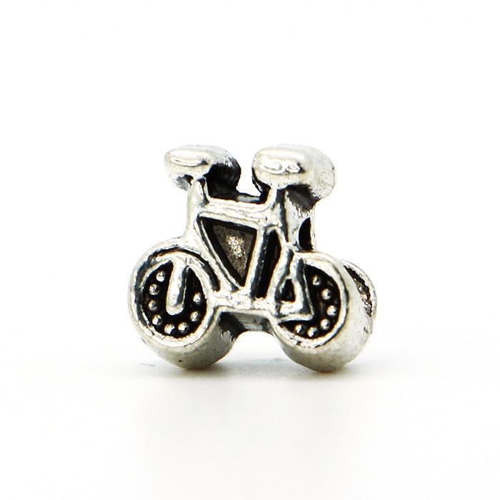 European Charm Amazing Silver Plated Bead Fit Pandora DIY Necklace Bracelets Bangles A0001 New 1Pcs Bike