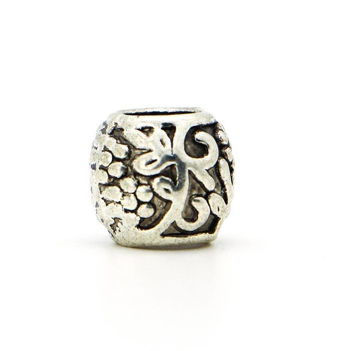Silver Plated Vine Print Bead Fit Pandora DIY Necklace Charm Bracelet Bangle New 1PCS European Bead