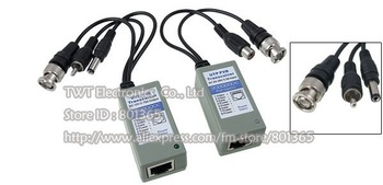 UTP Balun CCTV Balun UPT twisted pair transceiver (video/audio/power) ,10Pair