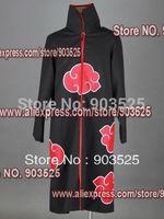 Promotion!!!!! Apparel Naruto Akatsuki cloak Cosplay Costume, any measurements Free Shipping