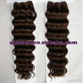 light color 100% human hair weaving+deep wave +quality grade A