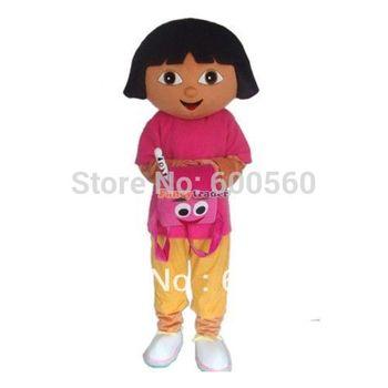 Fancytrader Dora The Explorer Mascot Costume Dora Mascot Costune Hallween Costume Christmas Costume Free Shipping FT20086