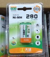 Rechargeable 9 Volt 6LF22 6LR61 Battery 9V 280mAh TIANQIU
