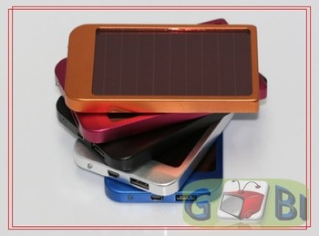 Portable Solar Energy charger 2600mAH Hand charger 0,7W Solar power Moved power