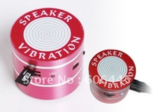 10Watt 10W Vibration Speaker with mp3 player micro SD card reader FM Radio Remote Control(China (Mainland))