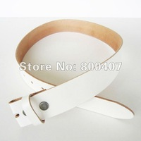 Wholesale Retail White Classic Plain Genuine Leather Snap On Belt Fast Delivery Free Shipping