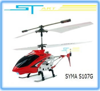 Clearance Syma S107G S107 gyro Metal 3.5ch R/C Mini Helicopter 3 Channel Micro RC plane RTF with flashlights Gyro us hot selling