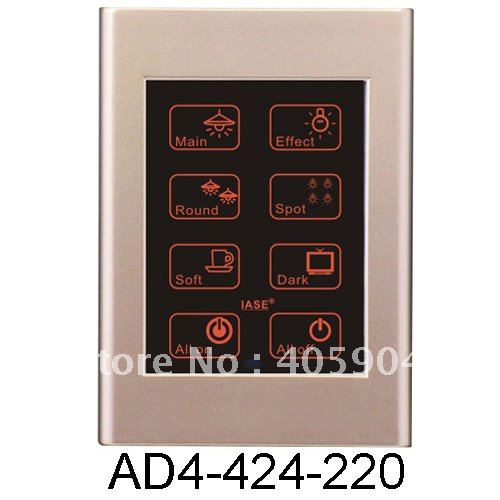 4 inch Lighting Dimmer Remote Touch Screen Wall Switch(China (Mainland))