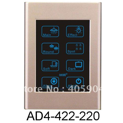 3Way 8Key 4 inch Lighting Dimmer Remote Control Touch Controller(China (Mainland))