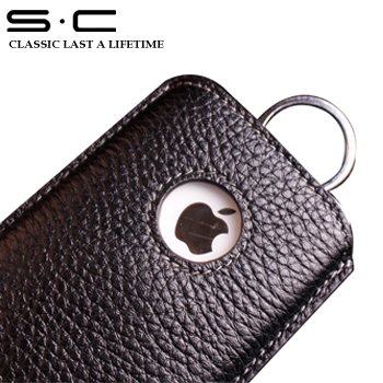 S.C Free Shipping - leather cover for iphone/leather purse/for apple Bag   4CPHC0012