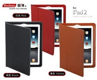 100% Genuine Leather YOOBAO case for ipad 2 smart cover leaher case for ipad 2 2g Free shipping New! wholesale