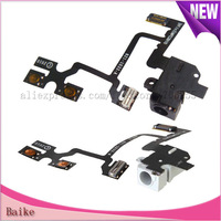 FOr Apple Iphone 4 4G Headphone Audio Jack Flex Cable 100% Gurantee Black/white  Free shipping
