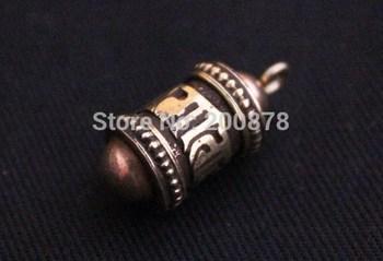 TGB080 Tibetan brass Prayer wheel box,20mm,GAU amulet charms pendant,six words mantras