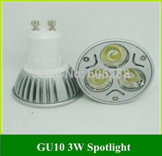 LED energy-saving Lamp 3W GU10 LED Lamps High Power Spotlight 3*1W 100PCS(China (Mainland))