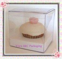 Hot Sales Wedding 9x9 PVC Cupcake Boxes with White Insert (JCO-423)