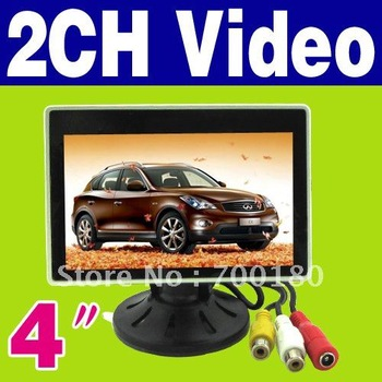 "Free Shipping  New 4 "" TFT LCD Color Camera DVD VCR CCTV Car Monitor O-486"