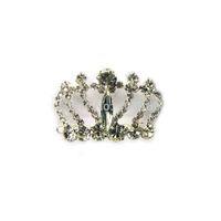 6pcs lot new free shipping rhinestone crown dog hinge barrette pets hair jewelry accessories