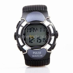 Free Shipping Cheap Sport Heart Pulse Rate Calorie Counter Watch + Monitor + Stopwatch + Alarm(China (Mainland))