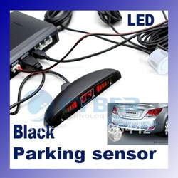 4 Sensors System 12v LED Display Indicator Parking Car Reverse Radar Kit Black(China (Mainland))