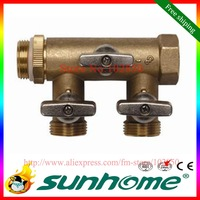 Free shipping,Self-Designed & Produced Brass Refill Valve Three Heads 3/4 inch for Closed Loop Solar Water Heater