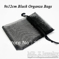 Free Shipping!! 10x12cm Drawstring  Black Organza Bags Jewelry Bags Gift Bags 500pcs/lot (Ten Colours to Choose)