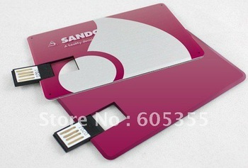 Credit Card USB Pen Flash Drive, Free Shipping!