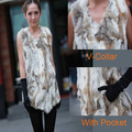 2012 Fashion item Guaranteed 100% real fur  free customer logo lady&#39;s rabbit fur vest