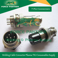 Tig Arc Plasma Welder 7-Pin Connector Welding Aviation plug 5pcs Wholesale Free Shipping