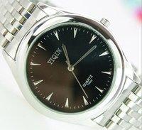 Free shipping, men's fashion business metal band watch, quartz analog wrist watch, best gift