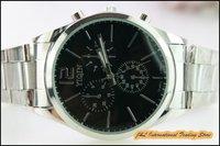 Free shipping, men's fashion personality band wrist quartz analog watch, gift watch