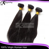 Grade AAAAA natural black  Soft straight 8''-30'' brazilian virgin hair