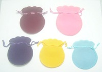 Free Shipping 100pcs/lot Mix Color Velvet Jewelry Gift Bags Pouches 2''*2.8'' B06