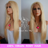 100% Brazilian virgin remy hair full lace wigs, #613 blonde color, silky straight wholesales and retails, free shipping