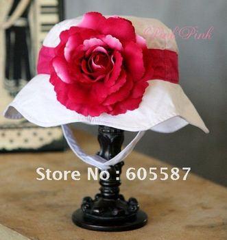 Free shipping 3pcs/lot New Arrival !! (6 designs) doomagic girls summer hats / baby flower sun hat