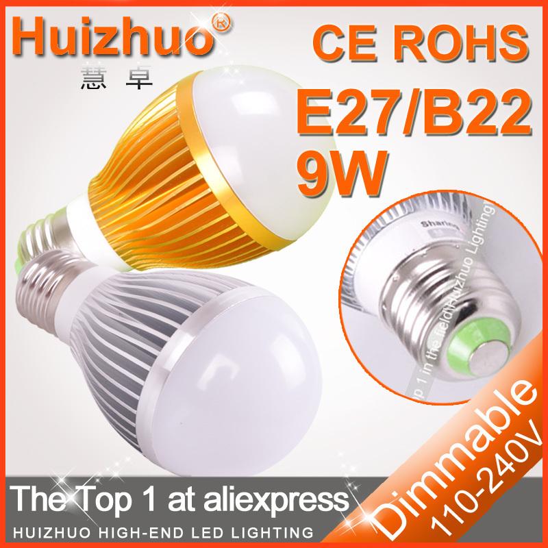 10pcs/lot Hot sale LED Bulb Light E27/B22/GU10 4W 3*3W 5*3W AC100-240V Warm White/White Dimmable LED Bulb Lamp(China (Mainland))