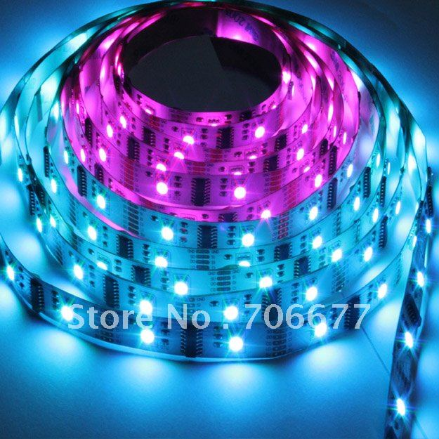 DC5V low input voltage non-waterproof multicolor led strip 1606 5v + 1 pcs controller(China (Mainland))
